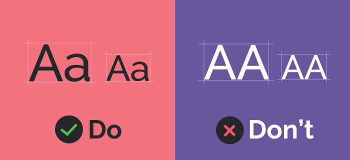 Typography do and don'ts for ADA compliance