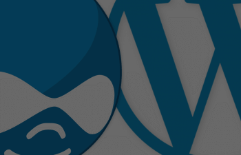 Drupal logo vs Wordpress Logo