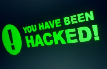 "Image of text stating ""You've been hacked""."